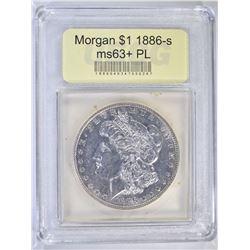1886-S MORGAN DOLLAR USCG CHBU