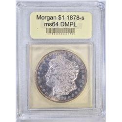 1878-S MORGAN DOLLAR USCG GEM BU
