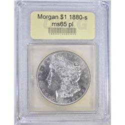 1880-S MORGAN DOLLAR USCG GEM BU