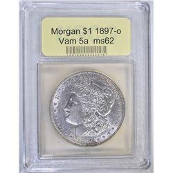 1897-O MORGAN DOLLAR USCG CH BU