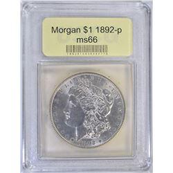 1892-P MORGAN DOLLAR USCG GEM BU++