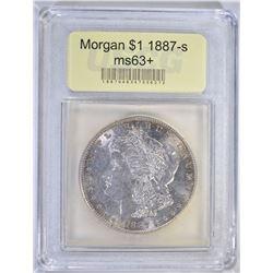1887-S MORGAN DOLLAR USCG CH BU+