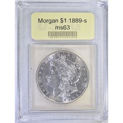 1889-S MORGAN DOLLAR USCG CH BU