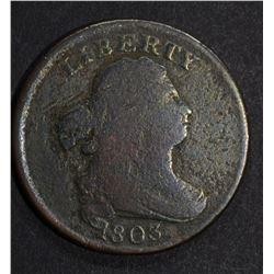 1803 HALF CENT, G/VG