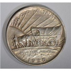 1926-S OREGON COMMEM HALF DOLLAR, AU
