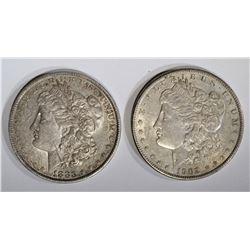 1883-O & 1902-S MORGAN DOLLARS ORIG XF