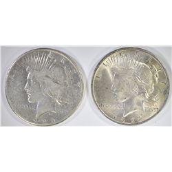 1922 AU/BU & 26 VG PEACE DOLLARS
