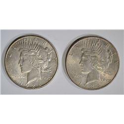 1928-S & 1934 AU PEACE DOLLARS