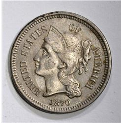 1870 3-CENT NICKEL, BU