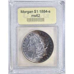 1884-S MORGAN DOLLAR USCG CH BU