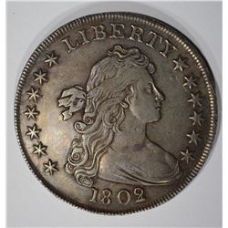 1802/1 WIDE DATE DRAPED BUST SILVER DOLLAR