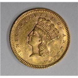 1861 $1 GOLD  CH BU