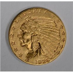 1926 $2 1/2 GOLD INDIAN HEAD