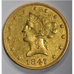 1847-O $10 GOLD LIBERTY HEAD