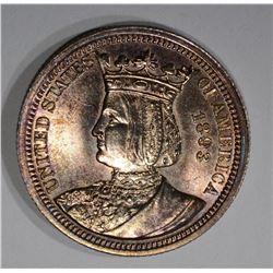 1893 ISABELLA 25c SILVER COMMEMORATIVE QUARTER