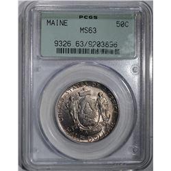 1920 MAINE COMMEM HALF DOLLAR PCGS MS-63