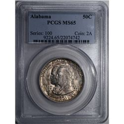 1921 ALABAMA COMMEM HALF DOLLAR PCGS MS-65