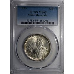 1925 STONE MOUNTAIN COMMEM HALF DOLLAR PCGS MS-65