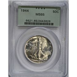 1944 WALKING LIBERTY HALF DOLLAR PCGS MS-65