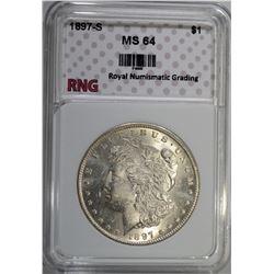 1897-S MORGAN DOLLAR RNG CH BU