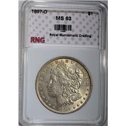 1897-O MORGAN DOLLAR RNG CH BU