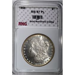 1898 MORGAN DOLLAR RNG SUPERB GEM PL