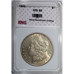 1902 MORGAN DOLLAR RNG GEM BU