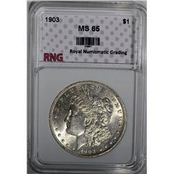 1903 MORGAN DOLLAR RNG GEM BU