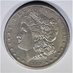 1889-CC MORGAN DOLLAR, AU KEY DATE!