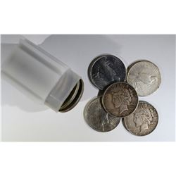 ROLL of PEACE SILVER DOLLARS (20)
