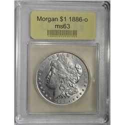 1886-O MORGAN DOLLAR USCG CH BU