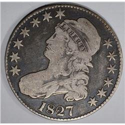 1827 BUST HALF DOLLAR O-112 FINE