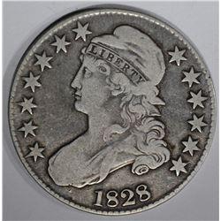 1828 BUST HALF DOLLAR O-112 VG