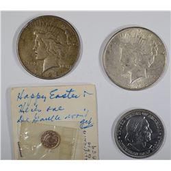 LOT: 1859 CAL. GOLD TOKEN; 1892 50c