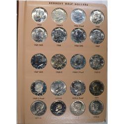 SET KENNEDY HALF DOLLARS 1964-2008