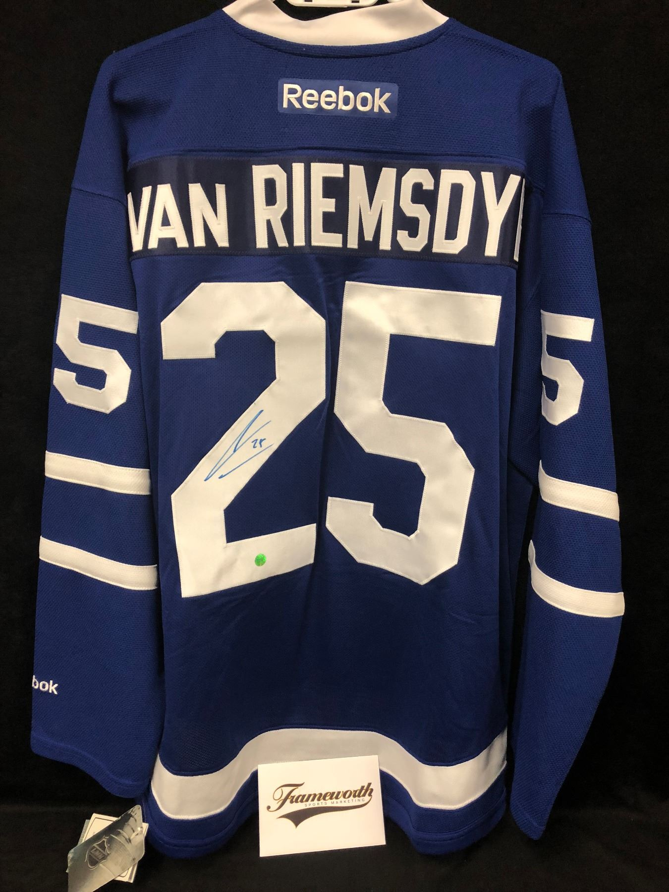 new product d9605 ad744 James van Riemsdyk Signed Maple Leafs Jersey (FRAMEWORTH COA)