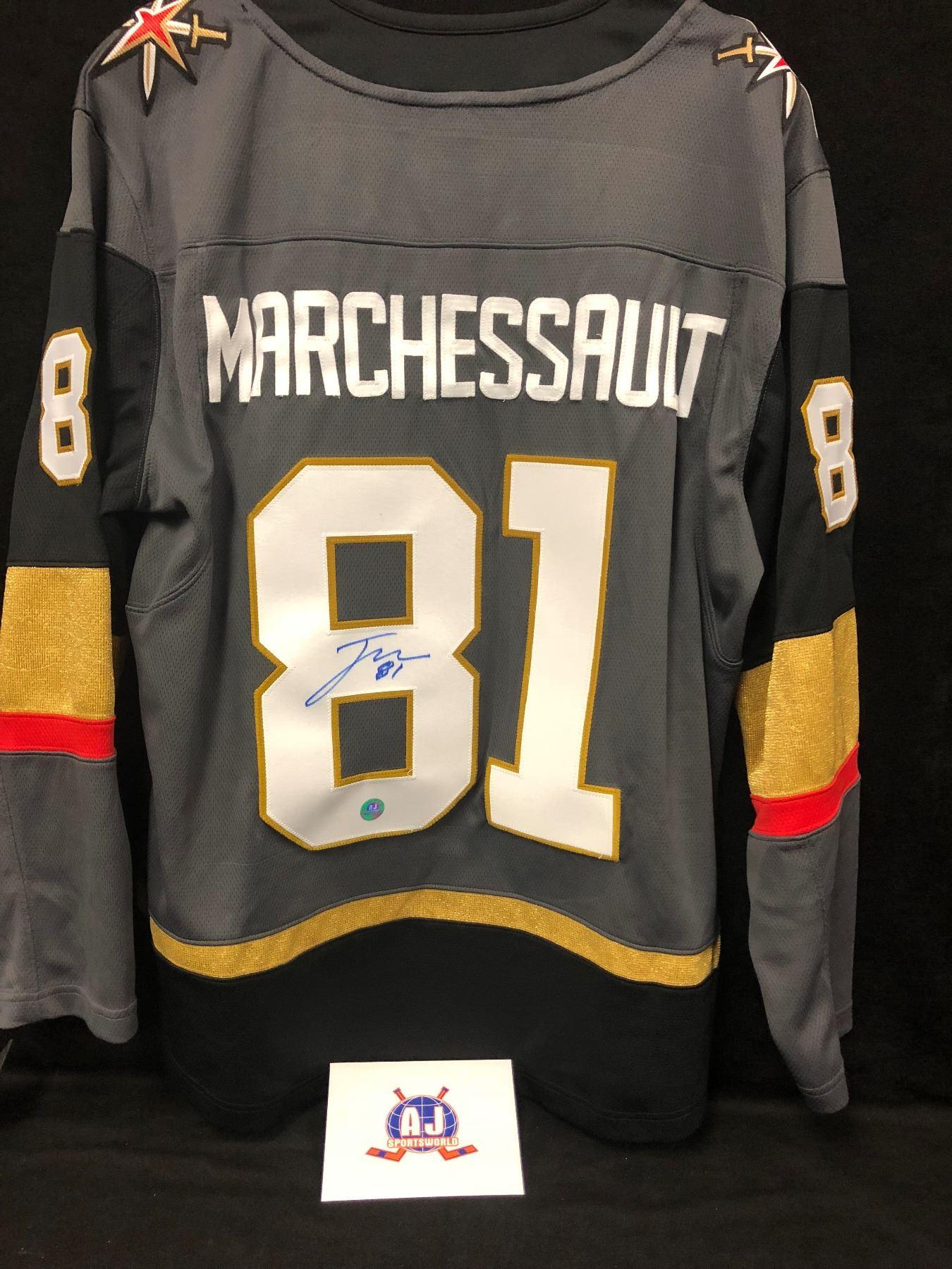 detailing 515d1 8709d Jonathan Marchessault Signed Golden Knights Hockey Jersey W/ A.J  SPORTSWORLD COA