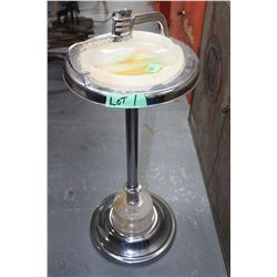 Floor Ashtray Stand w/Matching Marble Ashtray & Base