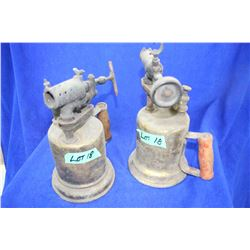 2 Brass Gas Blow Torches