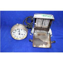 1950's Flip Toaster & an Alarm Clock