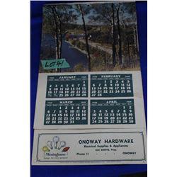 Onoway Hardware 1949 Calendar - Phone #11
