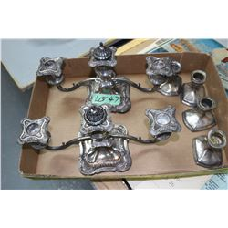 6 Silver Plate Candle Holders