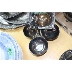 2 Silver Plate Condiment Bowls