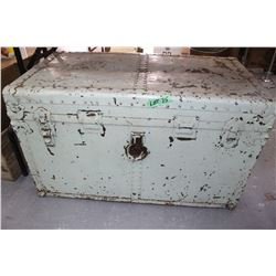 Shipping Trunk Painted Green