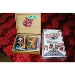 Wooden Box with Hockey & Ball Cards