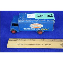 Dinky Supertoys Truck by Meccano, England w/Ever Ready Batteries for Life Logo - Approx. value $300