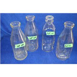 4 Square Milk Bottles
