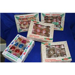 Box of Old Time Christmas Decorations