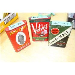 Prince Albert Tobacco Tin, Burley & Bright Pipe Tobacco, Velvet Pipe & Cigarette Tobacco Tins
