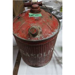 Old Gas Can with Lids